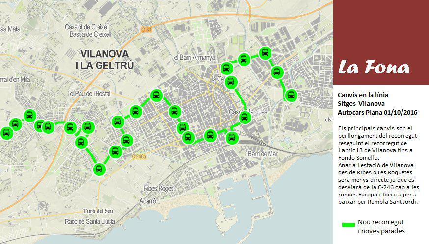 Més dificultats per a la mobilitat a Sant Pere de Ribes