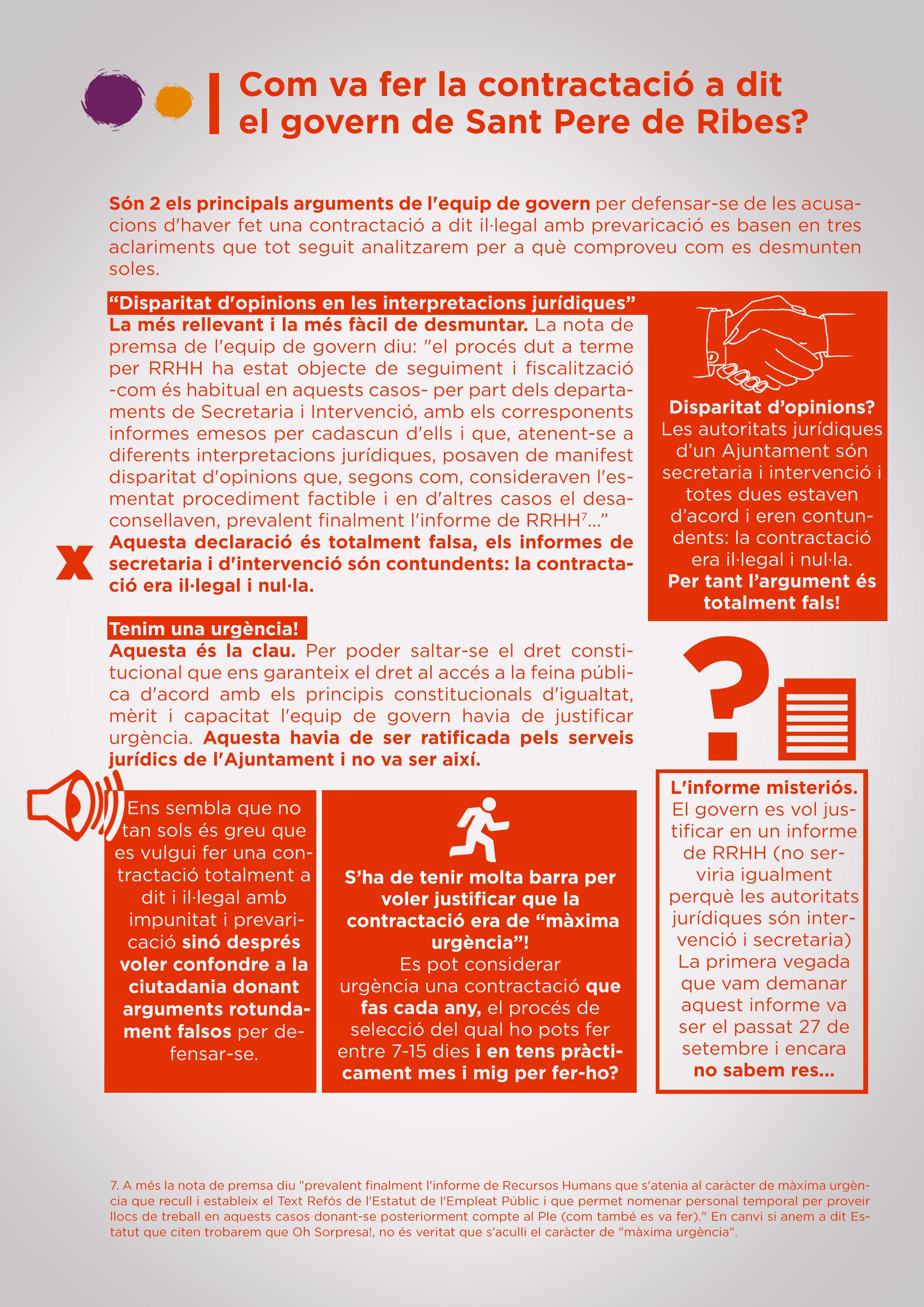 La contractació il·legal del govern de Sant Pere de Ribes al detall